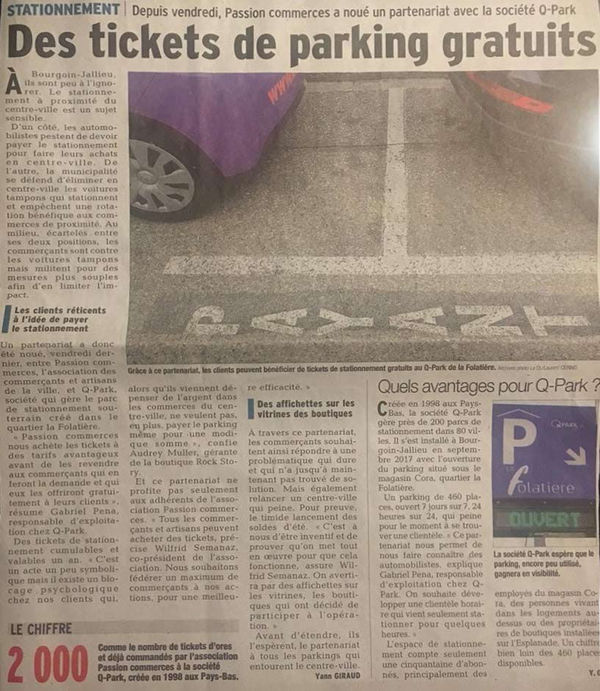 Des tickets de parking gratuits